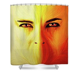 Mouthless Shower Curtain