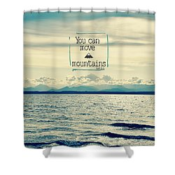 Move Mountains Shower Curtain by Robin Dickinson