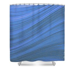 Movement In Waves Shower Curtain