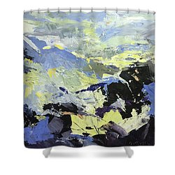 Movement Shower Curtain by NatikArt Creations