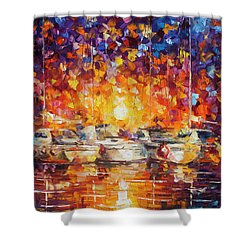Movement Of The Sea Shower Curtain by Leonid Afremov