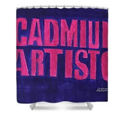 Movie Logo Cadmium Artisto Shower Curtain by Joshua Maddison