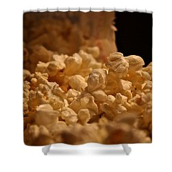 Movie Night Shower Curtain by Susan Herber