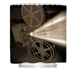 Movie Projector  Shower Curtain