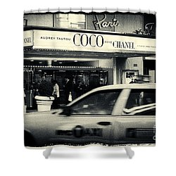 Movie Theatre Paris In New York City Shower Curtain