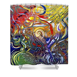 Moving Color Shower Curtain