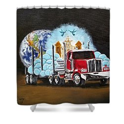 Moving Heaven And Earth  Shower Curtain