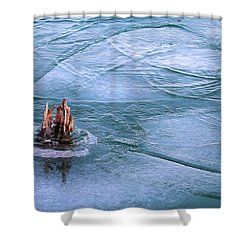Moving Ice In Winter 2017 Shower Curtain