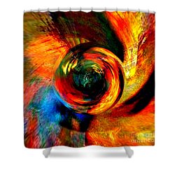 Moving Mediums  Shower Curtain