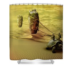 Shower Curtain featuring the digital art Moving On by Nathan Wright