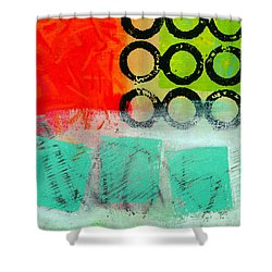 Moving Through 11 Shower Curtain by Jane Davies