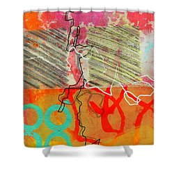 Moving Through 7 Shower Curtain by Jane Davies
