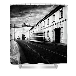 Street Tram Shower Curtain