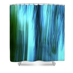 Moving Trees 37-15portrait Format Shower Curtain