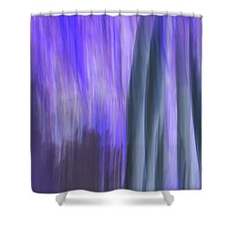 Moving Trees 37-36 Portrait Format Shower Curtain