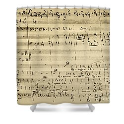 Mozart: Requiem Excerpt Shower Curtain