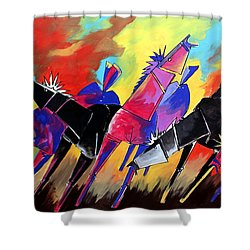 Mr Ameeba 5 Shower Curtain