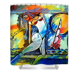 Mr Ameeba 8 Shower Curtain