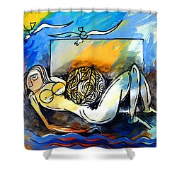 Mr Ameeba 9 Shower Curtain