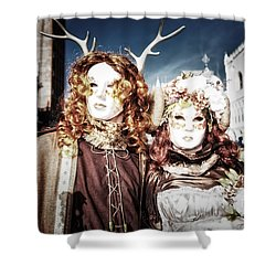 Mr And Mrs Deer Bypass Shower Curtain