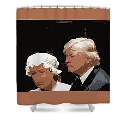 Mr And Mrs Shower Curtain