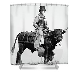 Mr Badoochie And Crab Shower Curtain by Kate Wiltshire