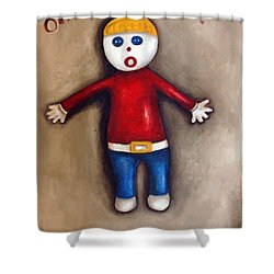 Mr. Bill Shower Curtain by Leah Saulnier The Painting Maniac