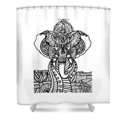 Mr. Elephante Shower Curtain