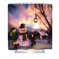 Mr. Frosty Shower Curtain