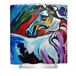 Mr Gorgeous Shower Curtain by Nora Shepley