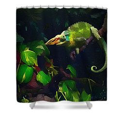 Shower Curtain featuring the photograph Mr. H.c. Chameleon Esquire by Sharon Jones
