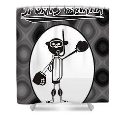 Mr. Jock Shower Curtain by Maria Watt