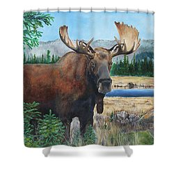 Mr. Majestic Shower Curtain