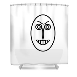 Mr Mf Has A False Smile Shower Curtain