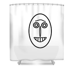 Mr Mf Has A Smile Shower Curtain