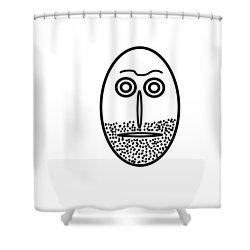 Mr. Mf Is An Unshaved Macho Shower Curtain