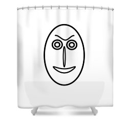 Mr Mf Is Friendly  Shower Curtain