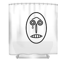 Mr Mf Is Sad  Shower Curtain