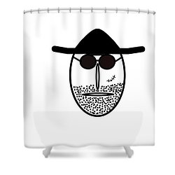 Mr Mf Is Scarface  Shower Curtain
