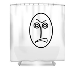 Mr Mf Is Very Angry Shower Curtain