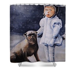 Mr Moonbeams  Shower Curtain
