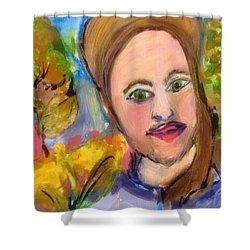 Mr O Fox Shower Curtain by Judith Desrosiers