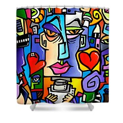 Mr Roboto Shower Curtain