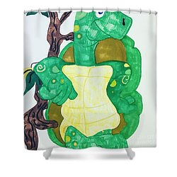 Mr. Turtle  Shower Curtain