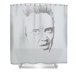Shower Curtain featuring the mixed media Mr. Walken by TortureLord Art