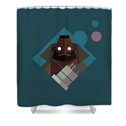 Shower Curtain featuring the digital art Mr. Wallace by Michael Myers