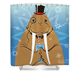 Mr. Walrus Shower Curtain