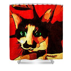 Mr. Wiggins Shower Curtain by Iowan Stone-Flowers