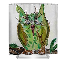 Mr.lime Owl Shower Curtain