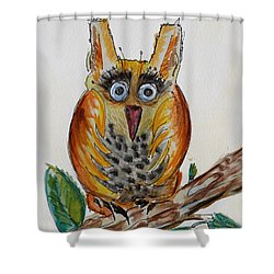 Mr.orange Owl Shower Curtain
